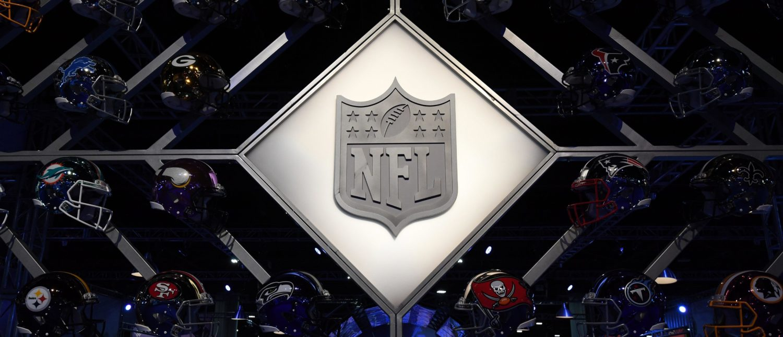 NFL Shield logo and helmets