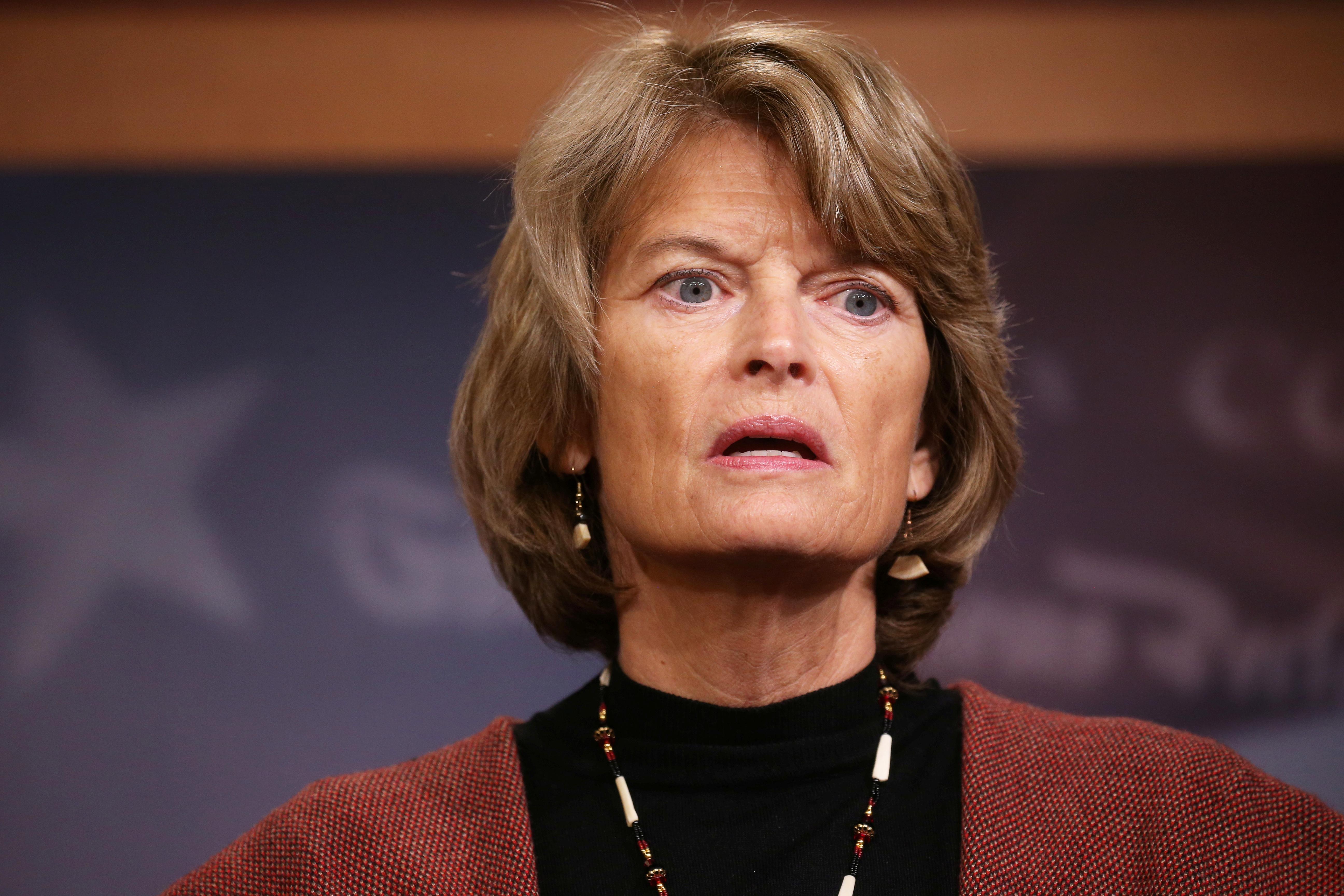 U.S. Senator Lisa Murkowski (R-AK) speaks at a news conference on Capitol Hill in Washington