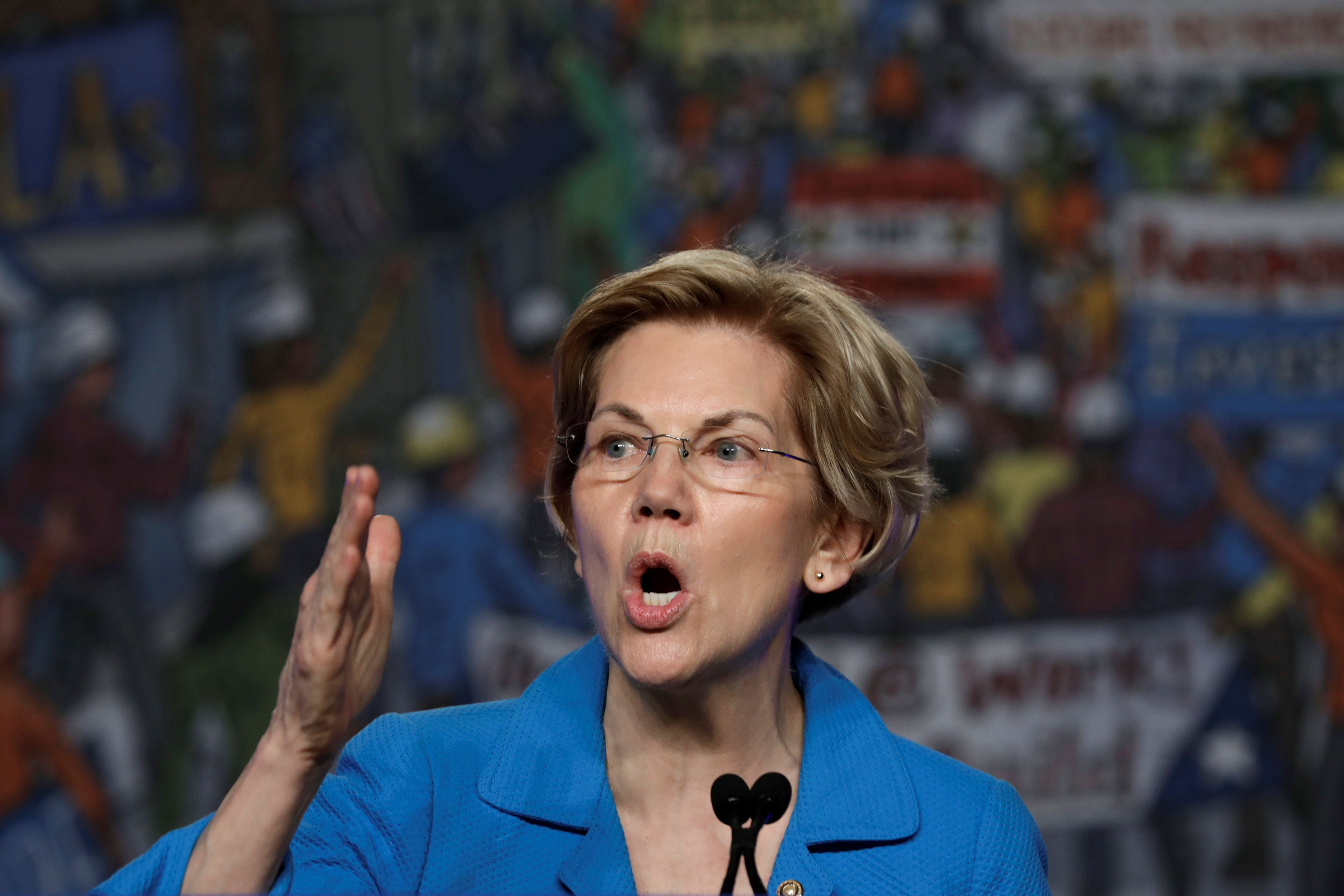 Senator Elizabeth Warren speaks at NABTU legislative conference in Washington