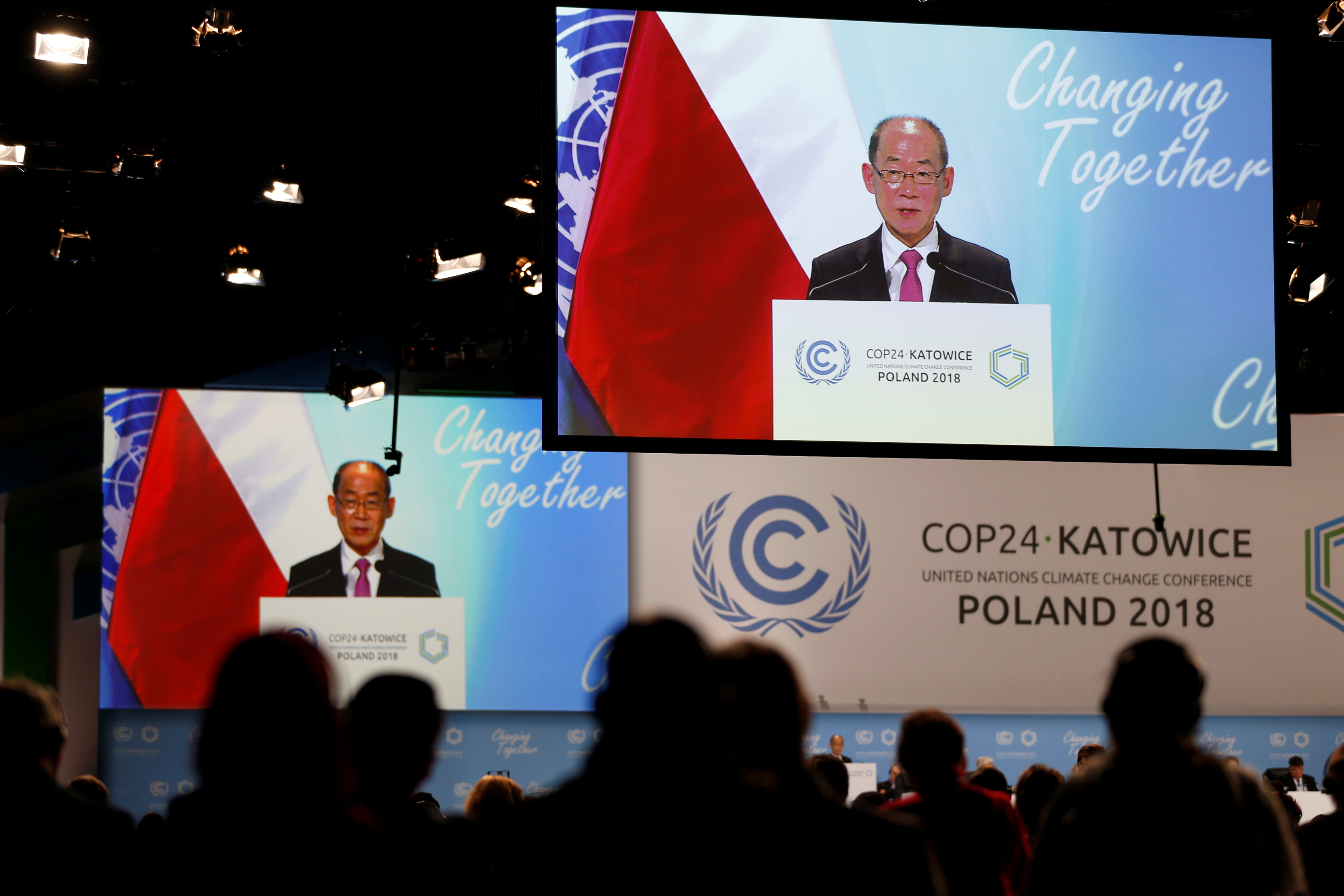 Hoesung Lee, chairman of the Intergovernmental Panel on Climate Change addresses at the COP24 U.N. Climate Change Conference 2018 in Katowice