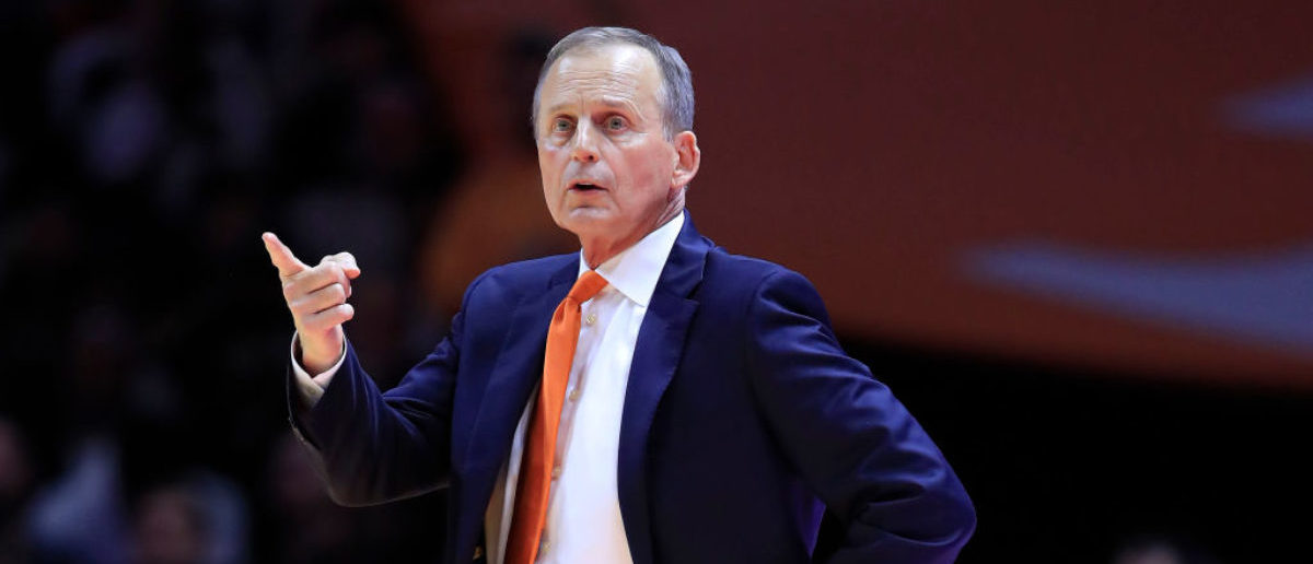 KNOXVILLE, TENNESSEE - MARCH 02: Rick Barnes the head coach of the Tennessee Volunteers gives instructions to his team in the game against the Kentucky Wildcats at Thompson-Boling Arena on March 02, 2019 in Knoxville, Tennessee. (Photo by Andy Lyons/Getty Images)