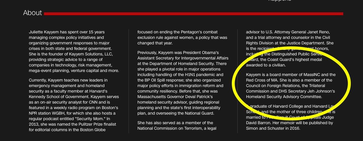 CNN Updated Bio, Juliette Kayyem (Screenshot, CNN.com)