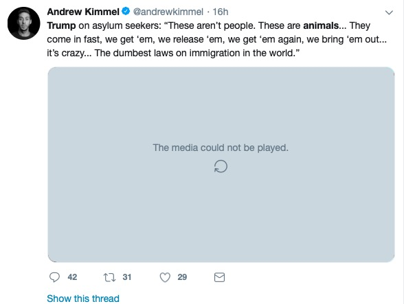 Andrew Kimmel (Twitter Screenshot)