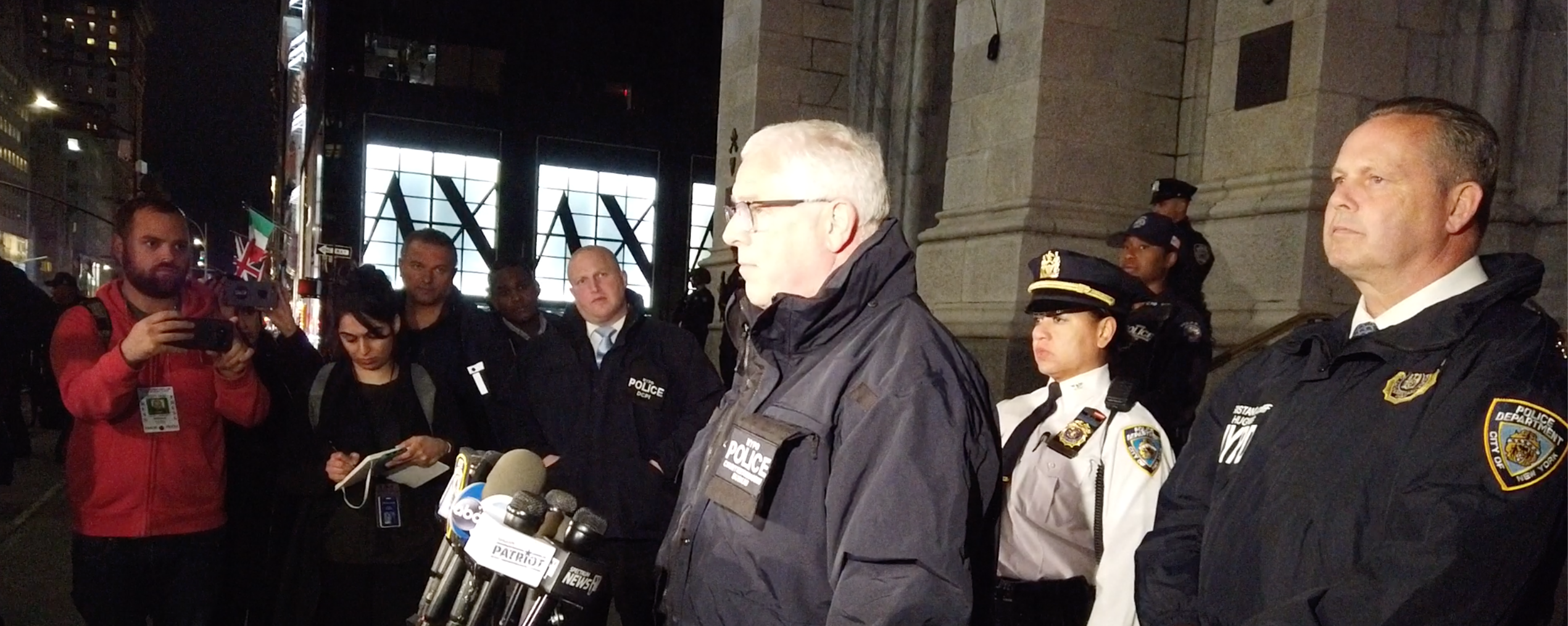 NYPD Deputy Commissioner of counterintelligence and counterterrorism John Miller talks to reporters (Photo Credit: Kerry Picket/The Daily Caller)