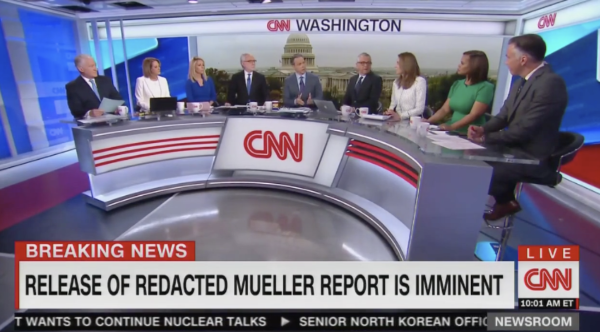 CNN coverage following the release of the Mueller probe (4/18)
