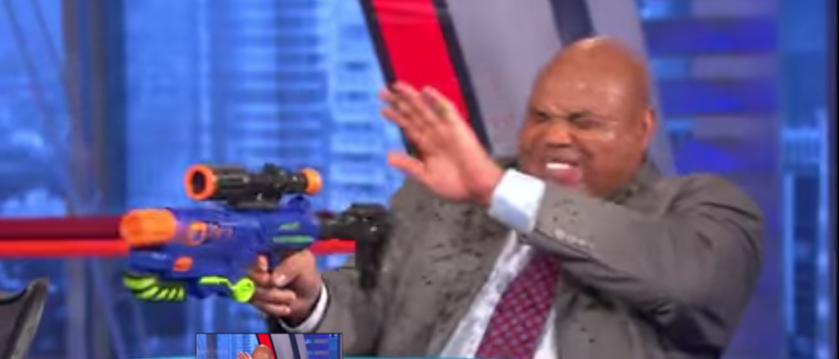 Charles Barkley Water gun Fight