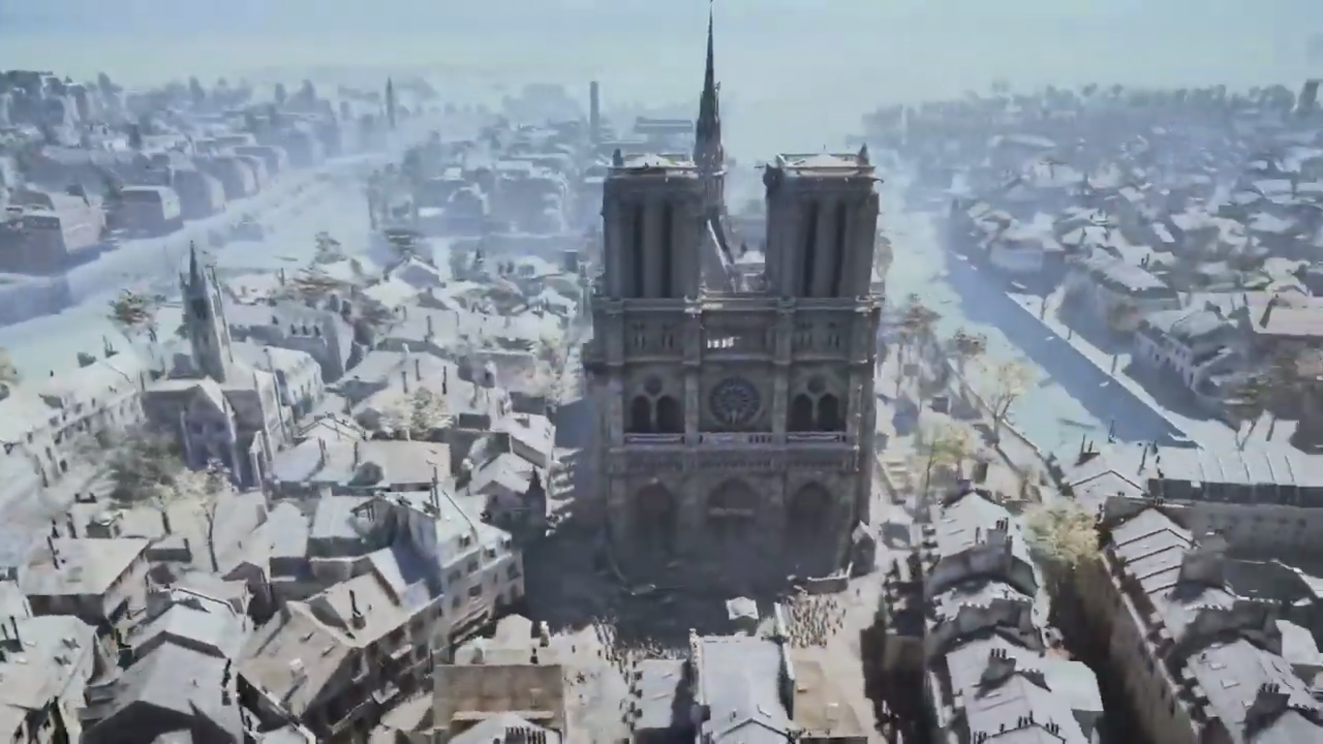 AC UNITY - Notre Dame Cathedral through a video game. Screenshot. (Caitlin Hernandez/YouTube.com)