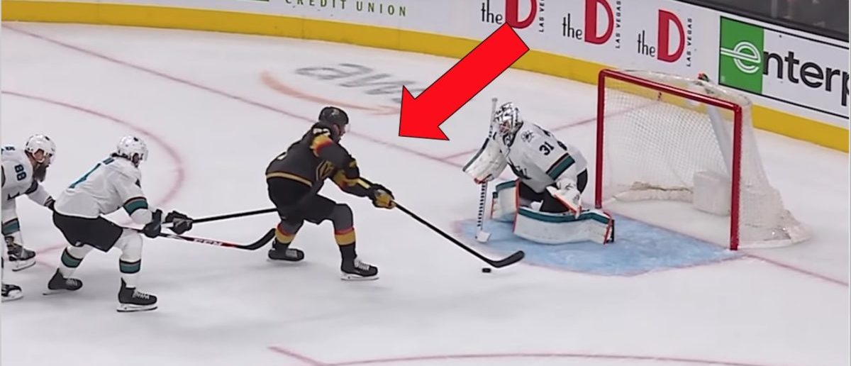 Shea Theodore Scores Incredible Backhand Goal Against The San Jose Sharks