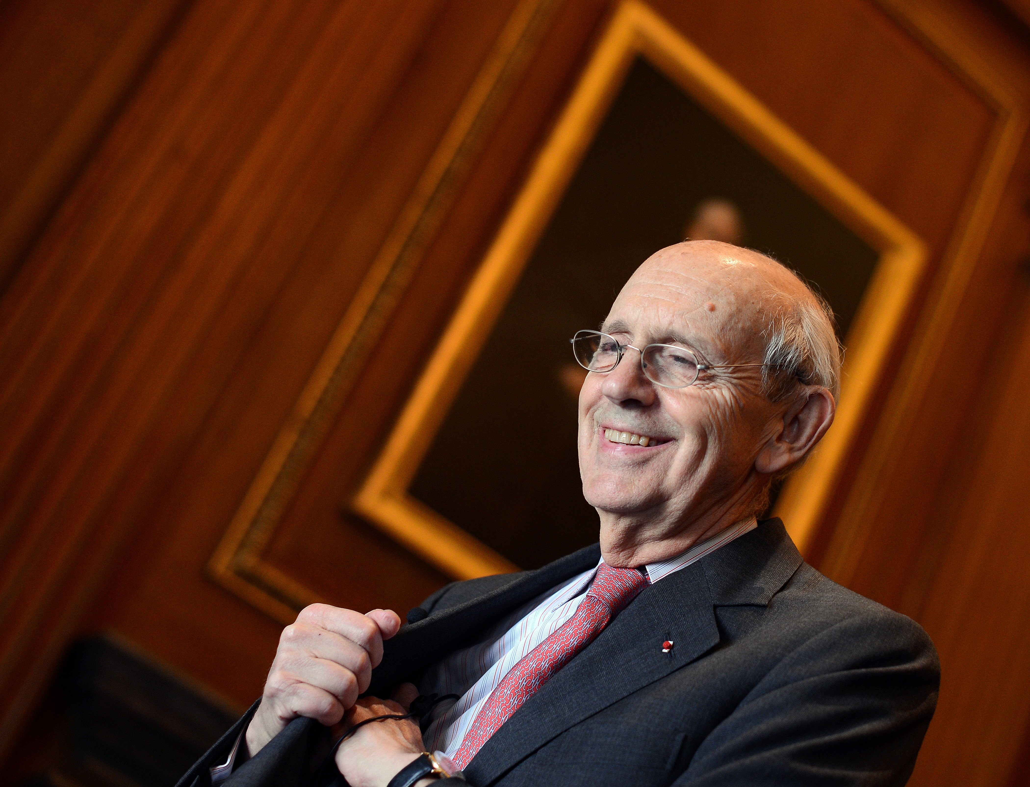 Justice Stephen Breyer sits for an interview with Agence France-Presse at the Supreme Court on May 17, 2012. (Jewel Samad/AFP/GettyImages)