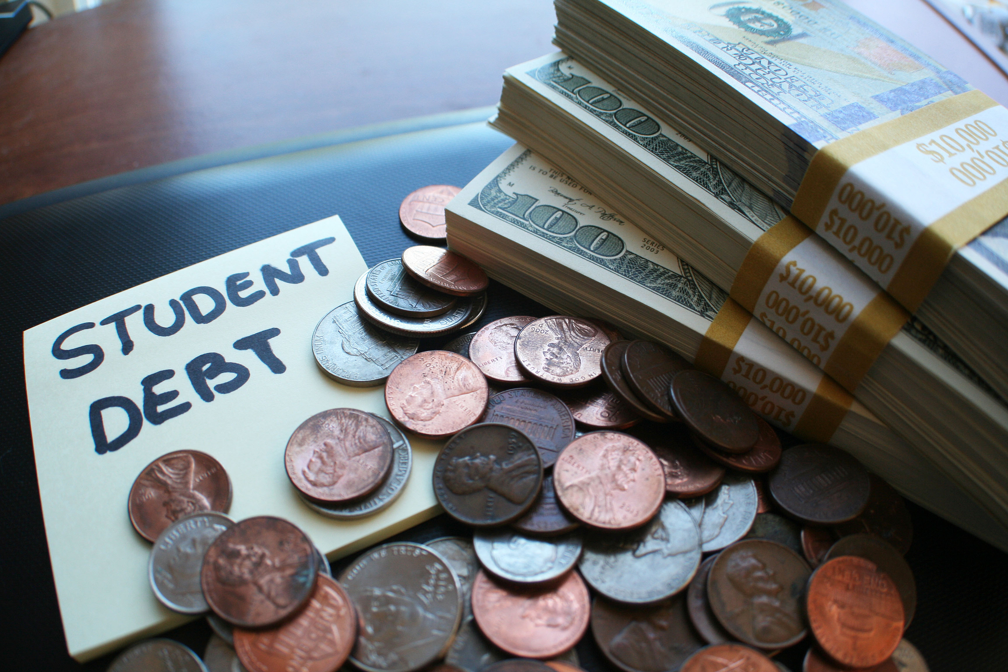 Pictured is a depiction of student debt. SHUTTERSTOCK/ ShutterstockProfessional