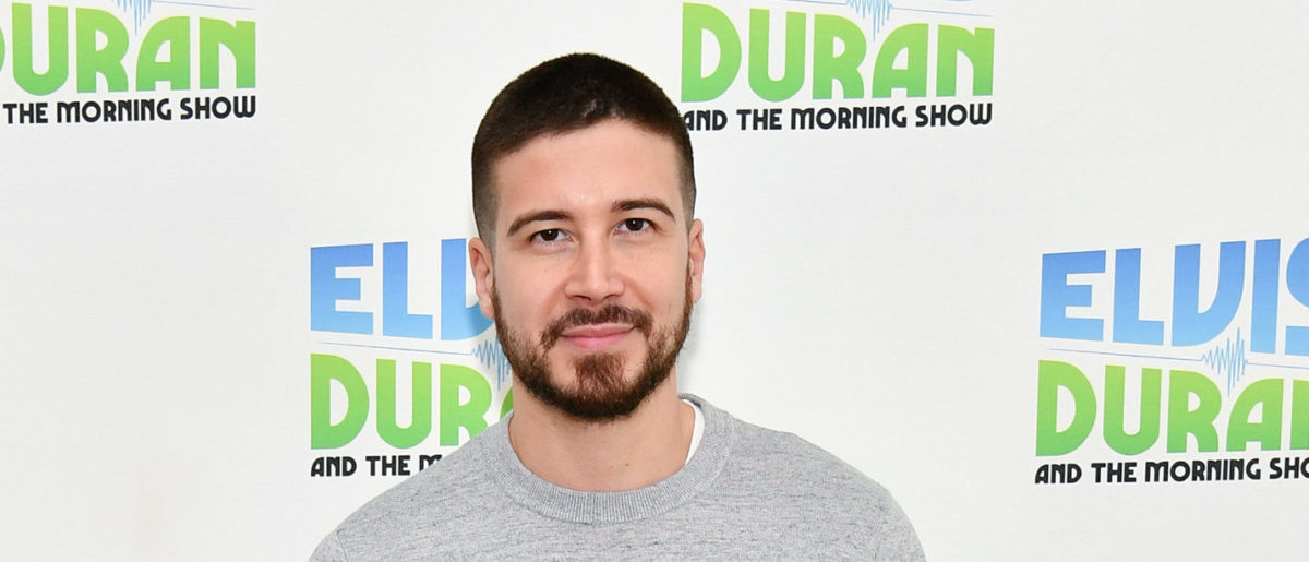 "Vinny Guadagnino visits ""The Elvis Duran Z100 Morning Show"" at Z100 Studio on April 5, 2018 in New York City. (Photo by Dia Dipasupil/Getty Images)"