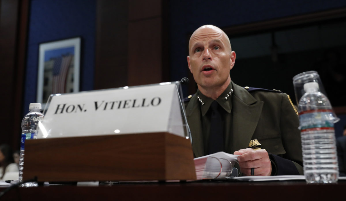 WASHINGTON, DC - MAY 22: Ronald Vitiello, acting deputy commissioner of U.S. Customs and Border Protection, testifies before the House Homeland Security Committee's Border and Marine Security subcommittee on Capitol Hill on May 22, 2018 in Washington, DC. Republican House members are calling for reform to asylum processes. (Photo by Aaron P. Bernstein/Getty Images)
