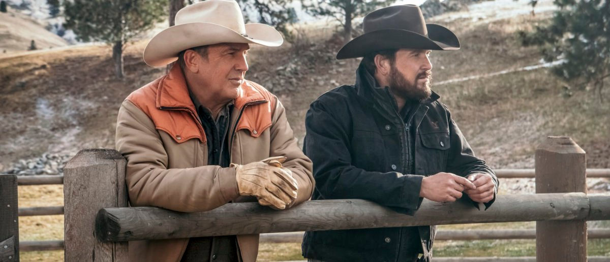 John Dutton (L- Kevin Costner) and Rip Wheeler (r-Cole Hauser) have to make hard decisions about how to preserve Yellowstone ranch. (Credit: Paramount Network)