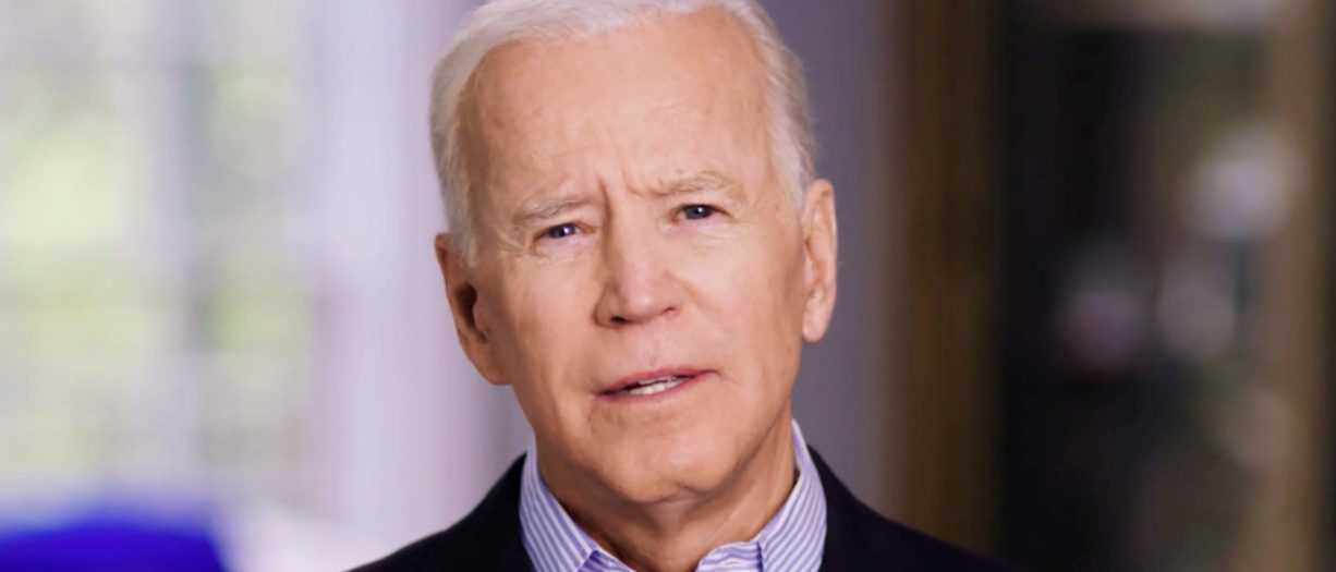 Former U.S. Vice President Joe Biden announces his candidacy for the Democratic presidential nomination in this still image taken from a video released April 25, 2019. BIDEN CAMPAIGN HANDOUT via REUTERS