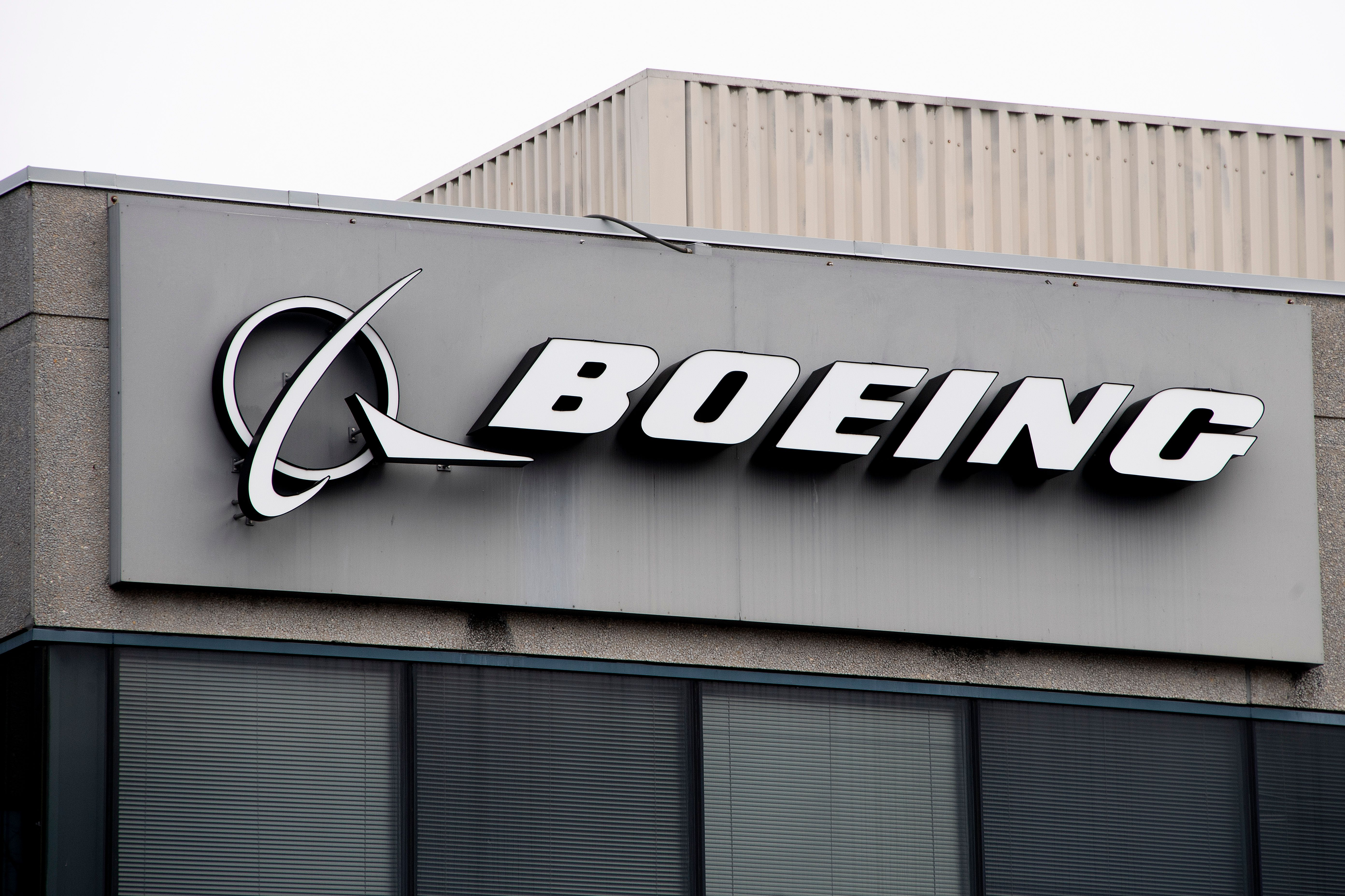 The Boeing Company logo is seen on a building in Annapolis Junction, Maryland, on March 11, 2019. (JIM WATSON/AFP/Getty Images)