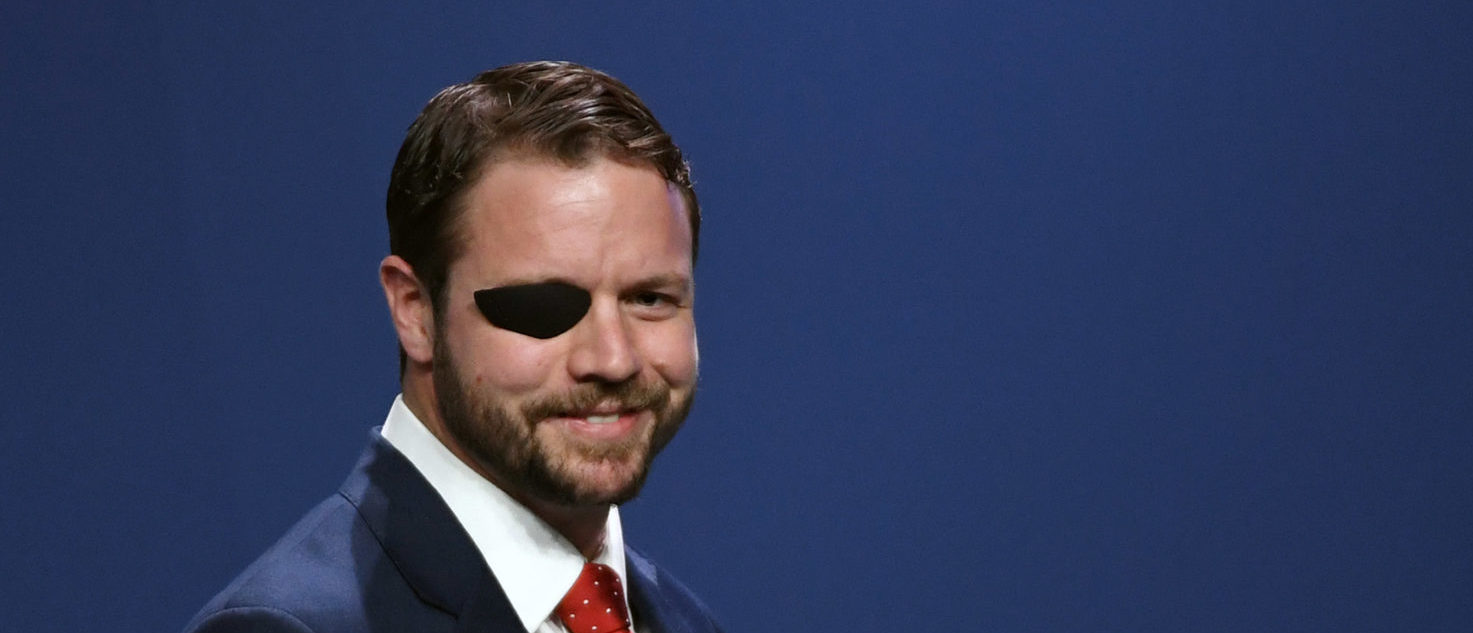 U.S. Rep. Dan Crenshaw (R-TX) smiles after speaking at the Republican Jewish Coalition's annual leadership meeting at The Venetian Las Vegas after appearances by U.S. President Donald Trump and Vice President Mike Pence on April 6, 2019 in Las Vegas, Nevada. Ethan Miller/Getty Images