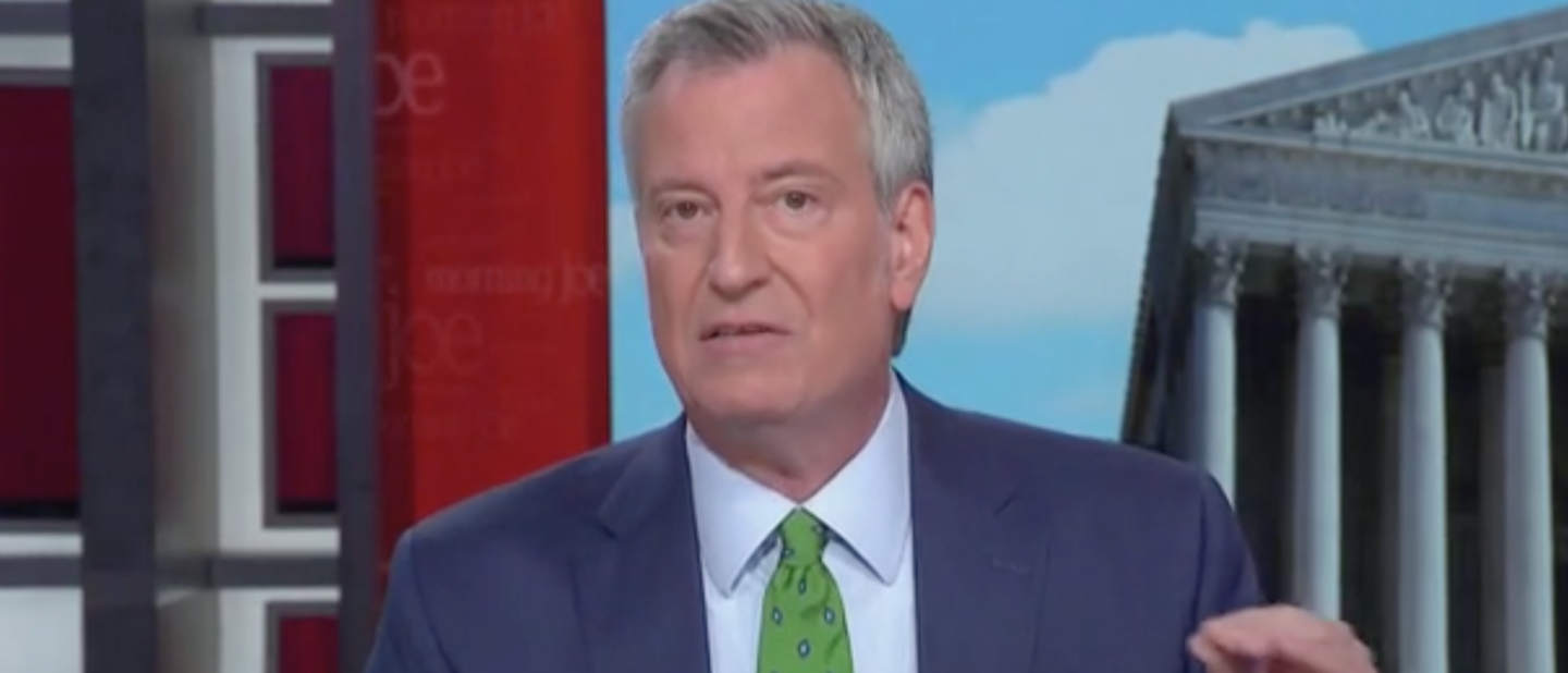 "NYC Mayor Bill De Blasio appears on MSNBC's ""Morning Joe."" Screen Shot/MSNBC"