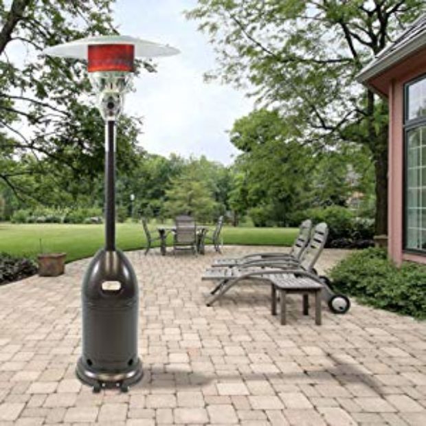 The list price on this patio heater is $249.99. Amazon has it on sale for$189.90! (Photo via Amazon)