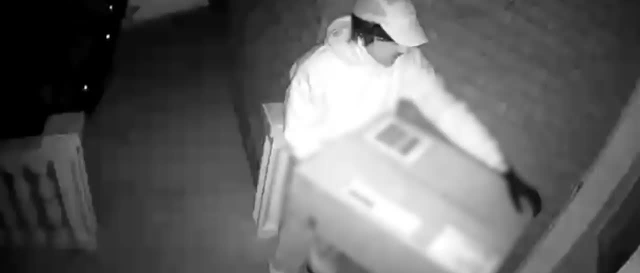 Suspected hitman on porch of vhictims house-Credit Peel Regional Police