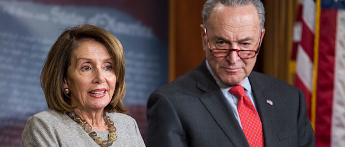 WASHINGTON, DC - JANUARY 25: House Speaker Nancy Pelosi (D-CA) speaks during a news conference with Senate Minority Leader Chuck Schumer (D-NY) following an announced end to the partial government shutdown at the U.S. Capitol January 25, 2019 in Washington, DC. (Photo by Zach Gibson/Getty Images)