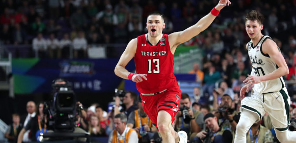 MINNEAPOLIS, MINNESOTA - APRIL 06: Matt Mooney #13 of the Texas Tech Red Raiders reacts in the second half against the Michigan State Spartans during the 2019 NCAA Final Four semifinal at U.S. Bank Stadium on April 6, 2019 in Minneapolis, Minnesota. (Photo by Tom Pennington/Getty Images)