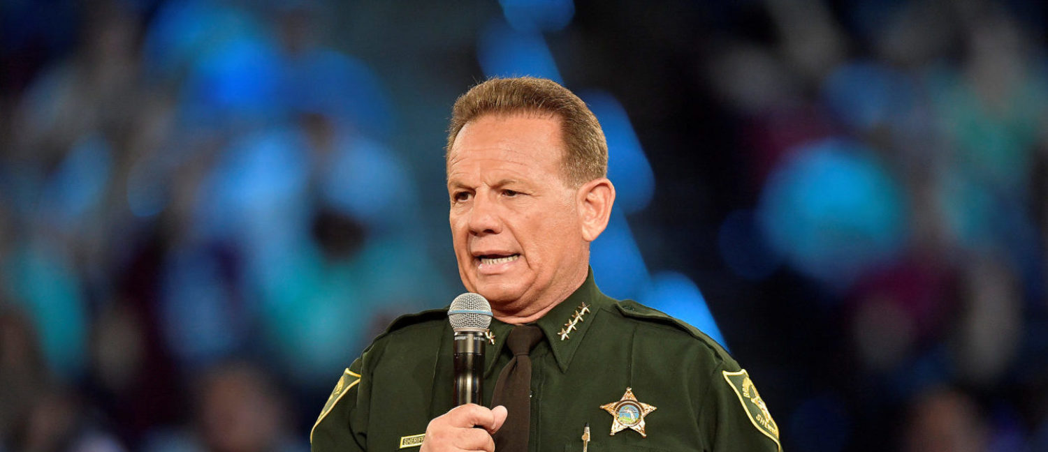 Broward County Sheriff Scott Israel speaks before the start of a CNN town hall meeting at the BB&T Center, in Sunrise, Florida, U.S. February 21, 2018. REUTERS/Michael Laughlin/Pool