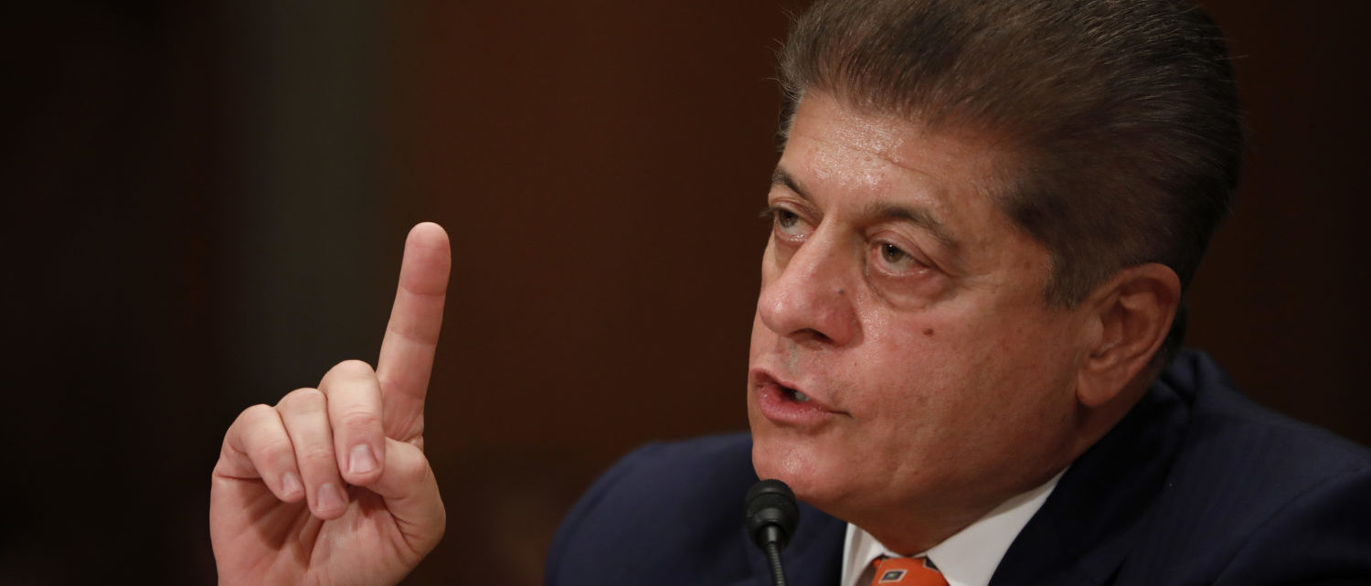 Andrew Napolitano, senior judicial analyst for the Fox News Channel, testifies during a Federal Spending Oversight And Emergency Management Subcommittee hearing June 6, 2018 on Capitol Hill in Washington, DC. Members of both parties raised questions about a lack of Congressional oversight of military deployments overseas. Aaron P. Bernstein/Getty Images