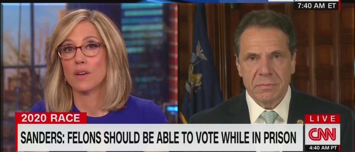 'Totally Disagree With Bernie Sanders': Cuomo Doesn't Believe Felons Should Have The Right To Vote