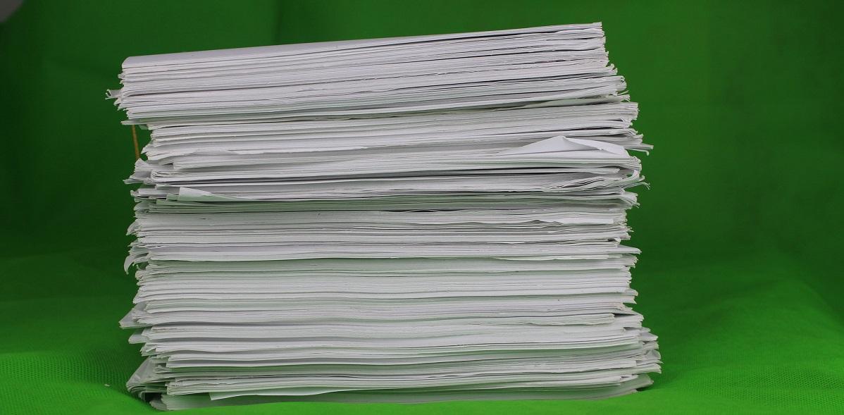 Stack of papers by Phillip Wong https://www.flickr.com/photos/tetracarbon/14193225660/in/photolist-nCcZvf-cVHs2u-Fbmok-nCcsHn-bnzVrR-n1bVns-4HfejV-Tp4KKm-tMcJQN-GBa9-dsNyA7-6aK1yo-dUCgzk-Fecq6-2J7T1-2cGaE1o-YW3Hdr-MSkVcY-UcDekn-7xEgz8-e1kz4P-2V2uSq-8DCUdi-dWGFFK-nThiZ-644Ln2-dJrtoz-dXdSS7-dJwVUE-5cGP1J-6FDgSi-dWCFq4-2fiioUg-2dU5raK-6PUBH8-5SvDfC-hysXMo-hysXGd-bQjg3P-bnqQzE-8BZaCT-8ozS8b-jnL4eH-6Bp3fK-5boJ6P-qwKHda-dif3hG-oFMN3a-mVGa84-fp6rWu CC BY 2.0 https://creativecommons.org/licenses/by/2.0/
