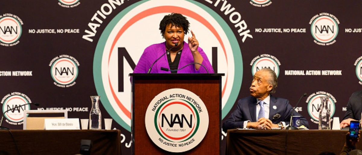 Stacey Abrams, former Georgia Gubernatorial Candidate, is at the National Action Network (NAN) convention in New York City. (Photo by Michael Brochstein/SOPA Images/LightRocket via Getty Images)