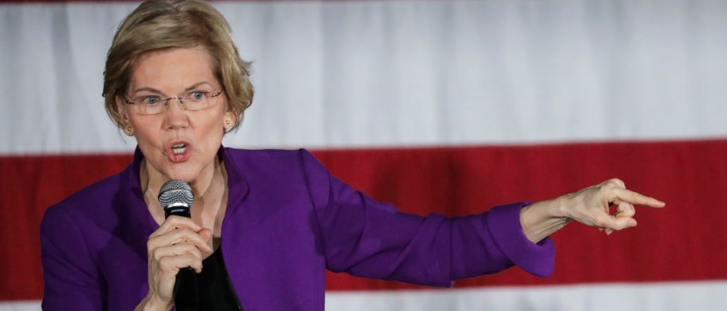 Sen. Elizabeth Warren (D-MA), one of several Democrats running for the party's nomination in the 2020 presidential race, speaks during a campaign event, March 8, 2019 in the Queens borough of New York City. Drew Angerer/Getty Images