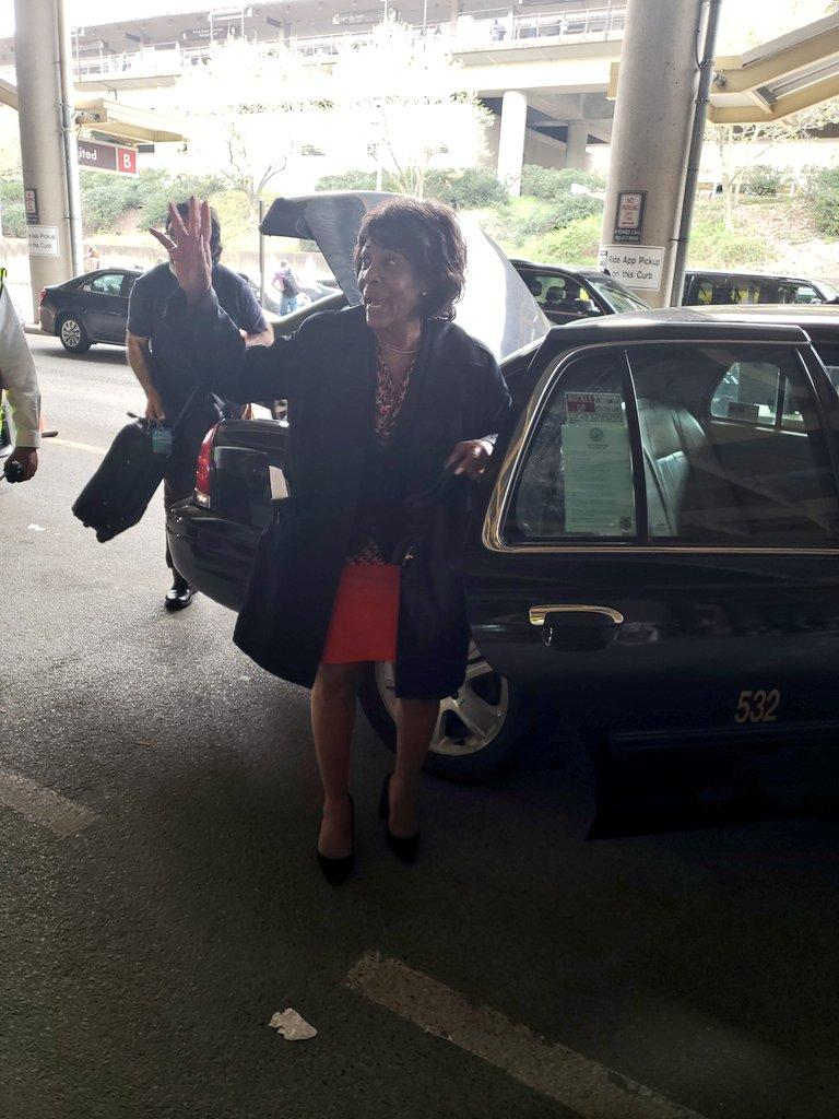 Rep. Maxine Waters/taxi.