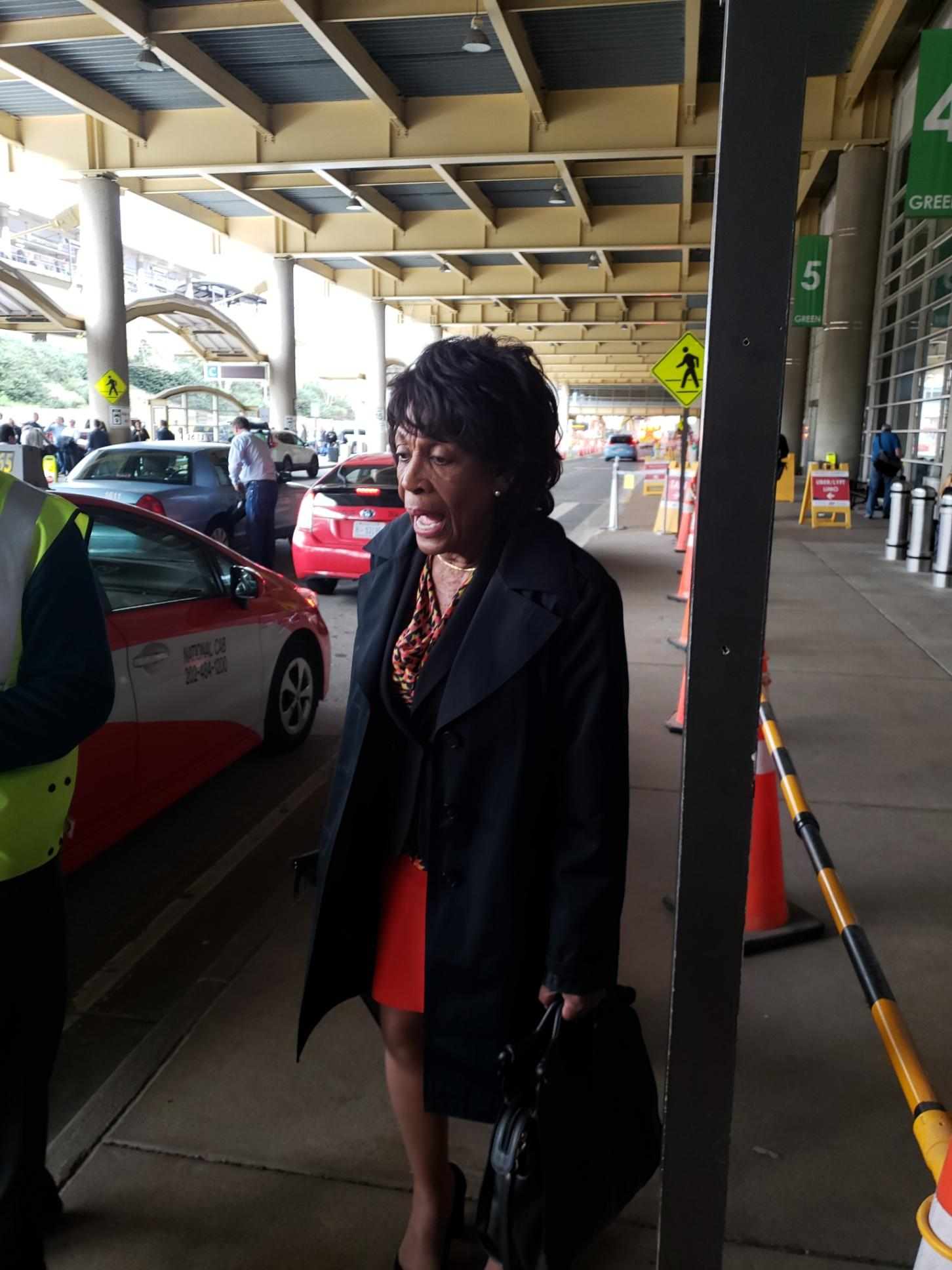Rep. Maxine Waters/taxi line.
