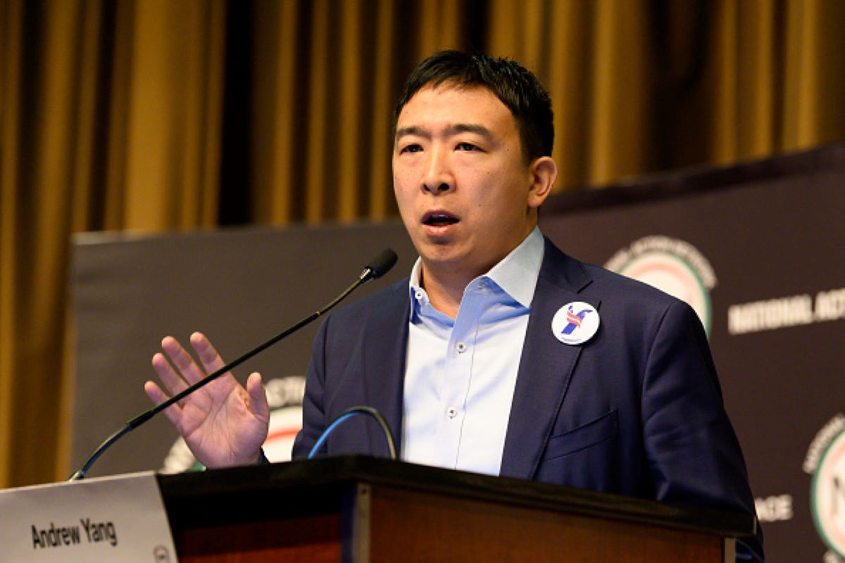 Andrew Yang, Entrepreneur & Founder, Venture for America, at the National Action Network (NAN) convention in New York City. (Photo by Michael Brochstein/SOPA Images/LightRocket via Getty Images)