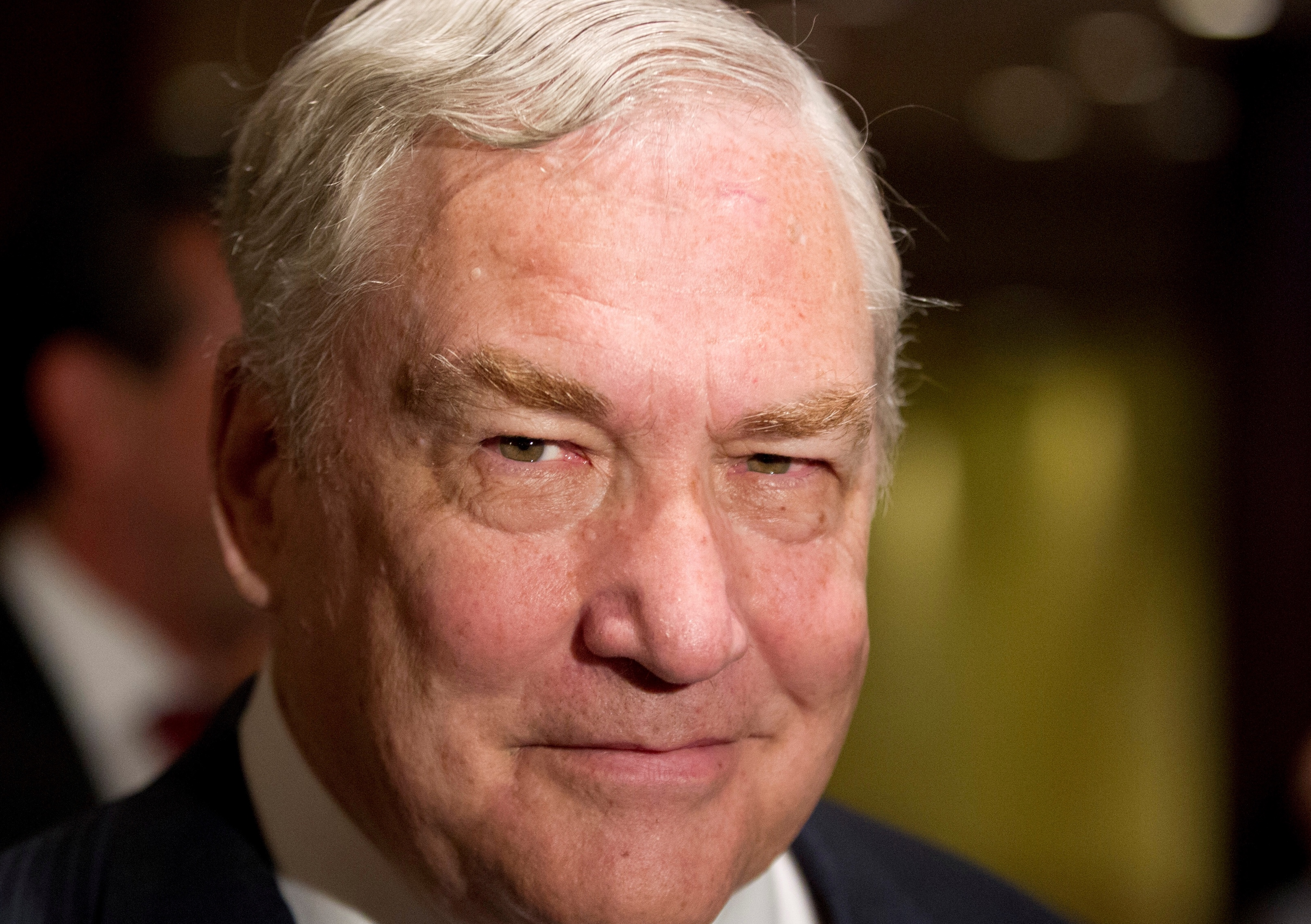FILE PHOTO: Former media mogul Conrad Black arrives at a business luncheon in Toronto, Canada June 22, 2012. REUTERS/Mark Blinch/File Photo