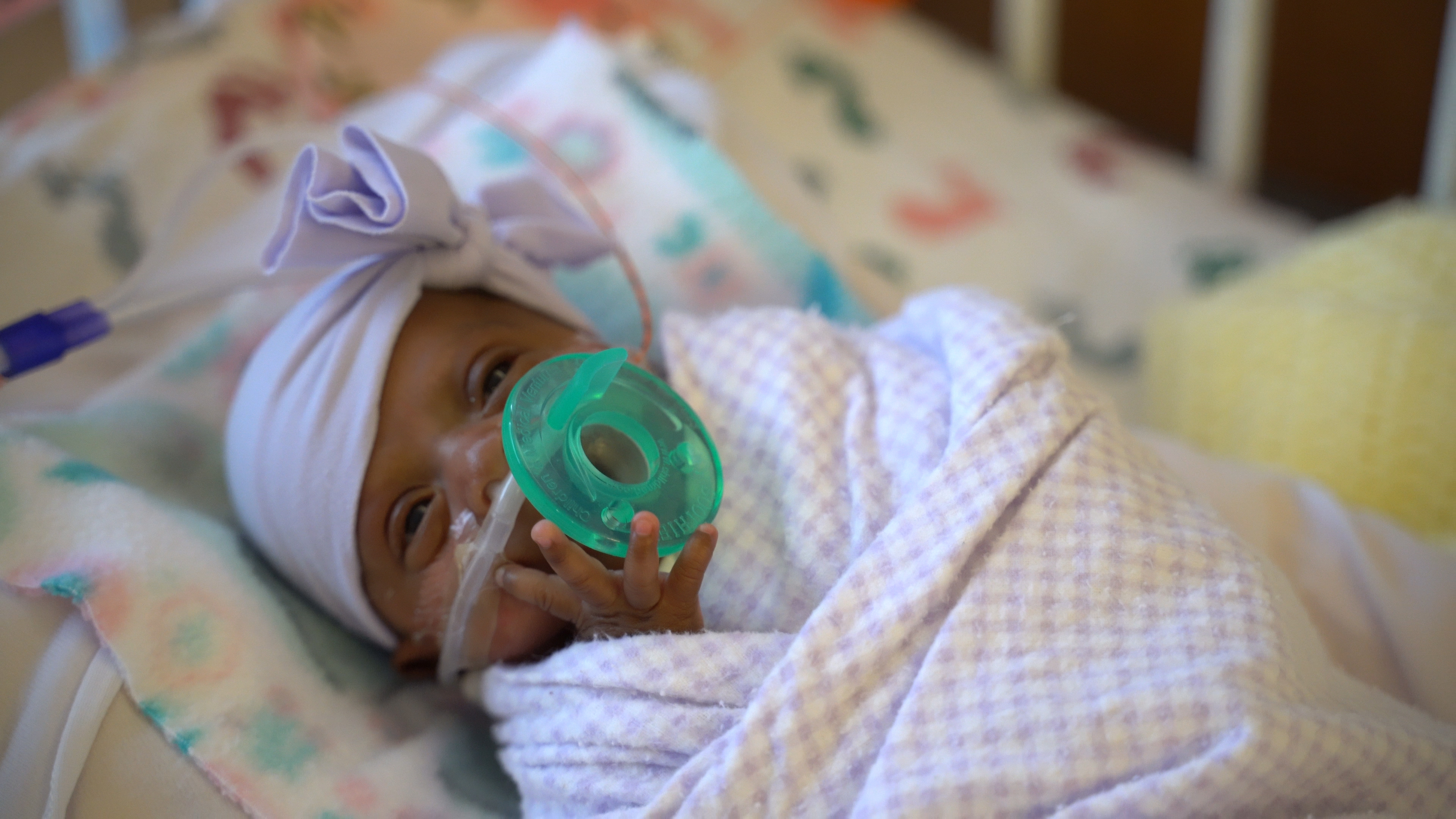 Baby Saybie weighs in at 3 pounds in March 2019. Photo courtesy Sharp HealthCare