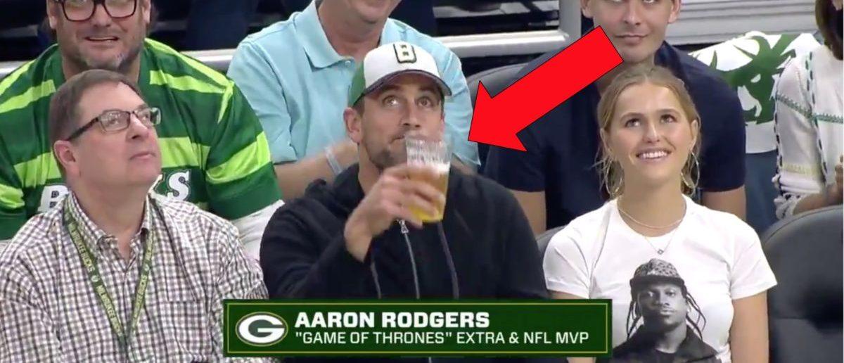 Aaron Rodgers (Credit: Screenshot/Twitter Video https://twitter.com/espn/status/1131724502184976384?s=21)
