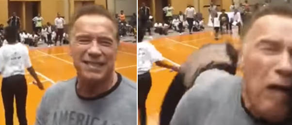 Arnold Schwarzenegger Attacked At South Africa Charity Event