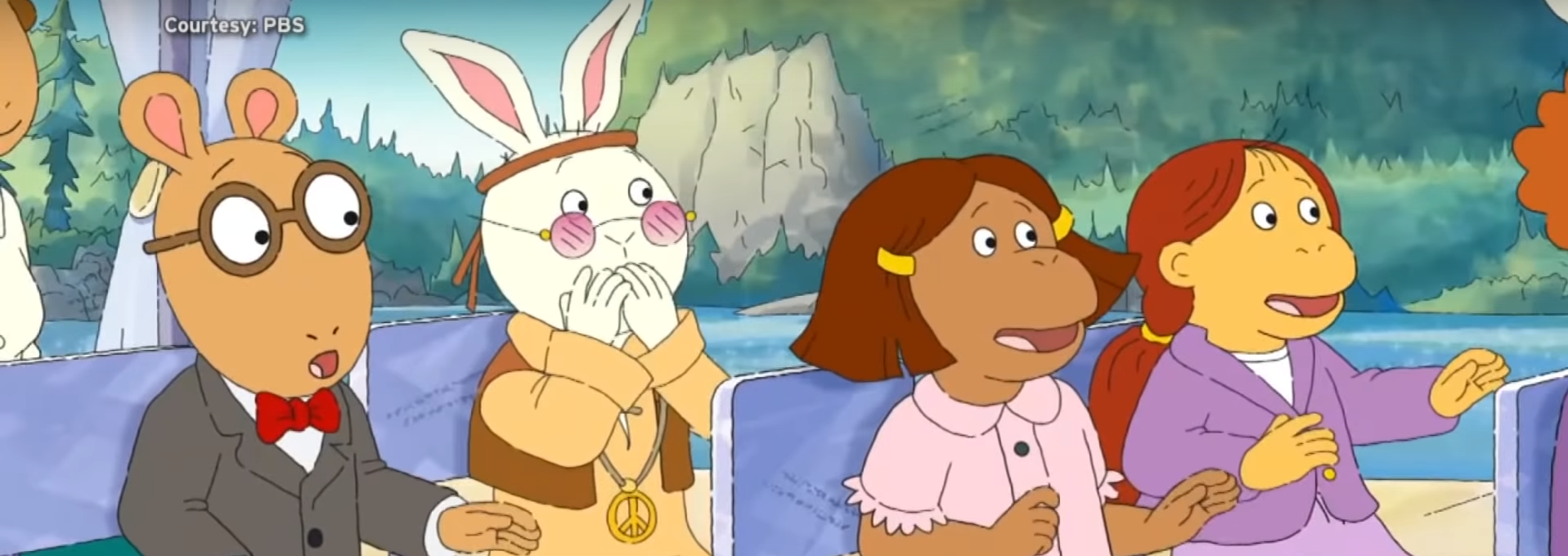 Pictured are the characters from Arthur. Screenshot/YouTube/ET Canada/PBS