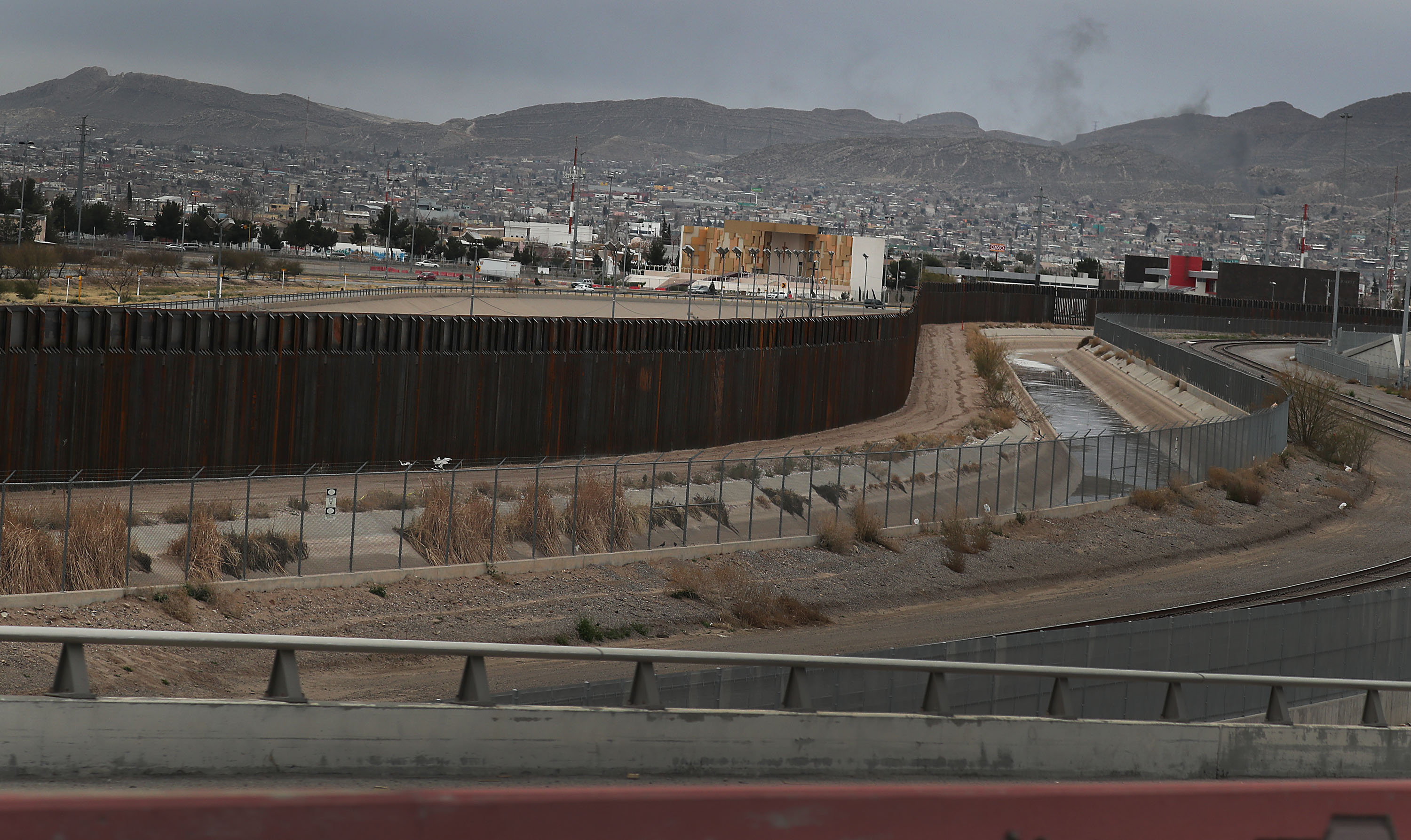 EL PASO, TEXAS - FEBRUARY 10: The U.S./ Mexican border wall is seen on February 10, 2019 in El Paso, Texas. U.S. President Donald Trump is scheduled to visit the border city as he continues to campaign for a wall to be built along the border and the Democrats in Congress are asking for other border security measures. (Photo by Joe Raedle/Getty Images)