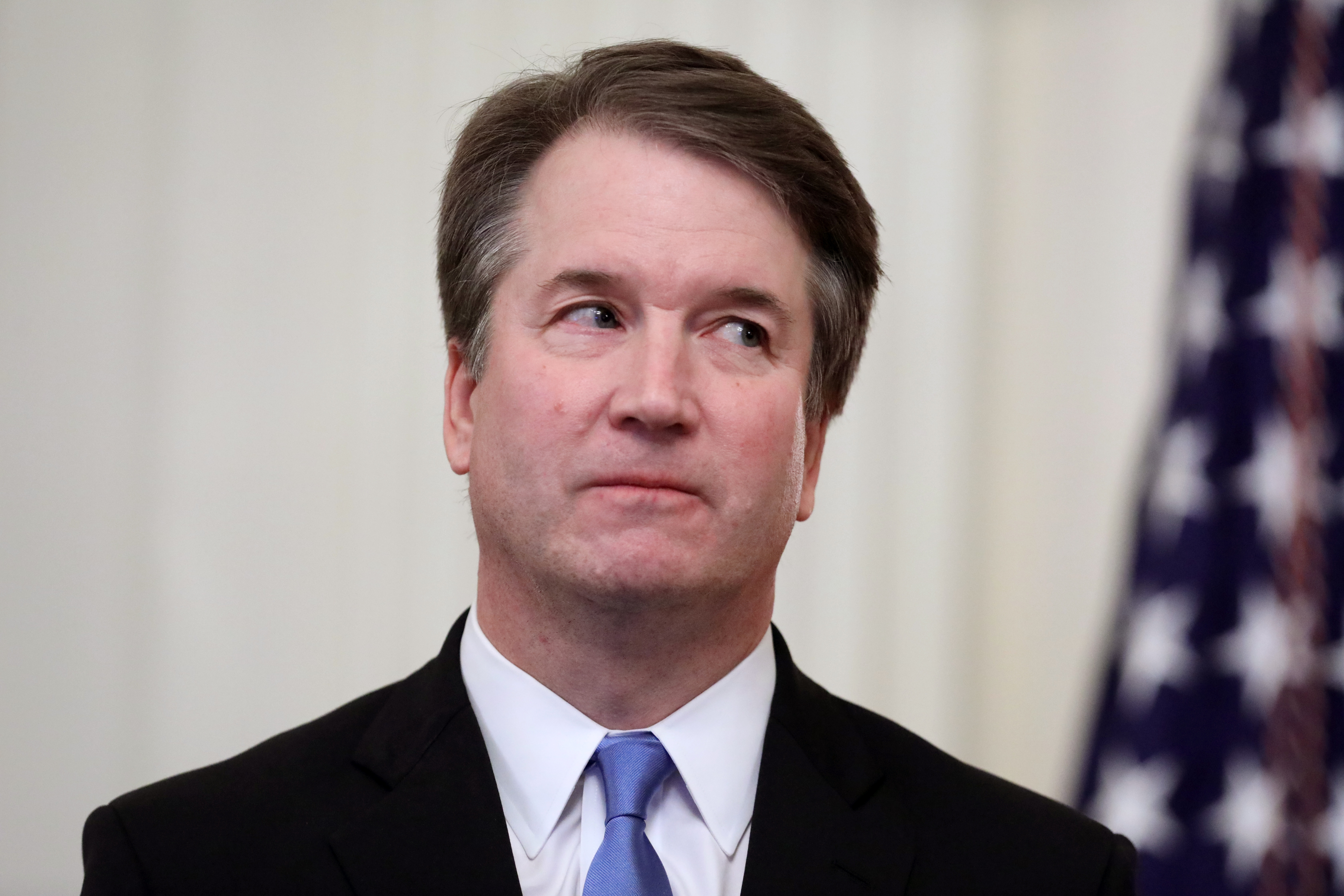 Justice Brett Kavanaugh attends his ceremonial swearing at the White House on October 8, 2018. (Chip Somodevilla/Getty Images)