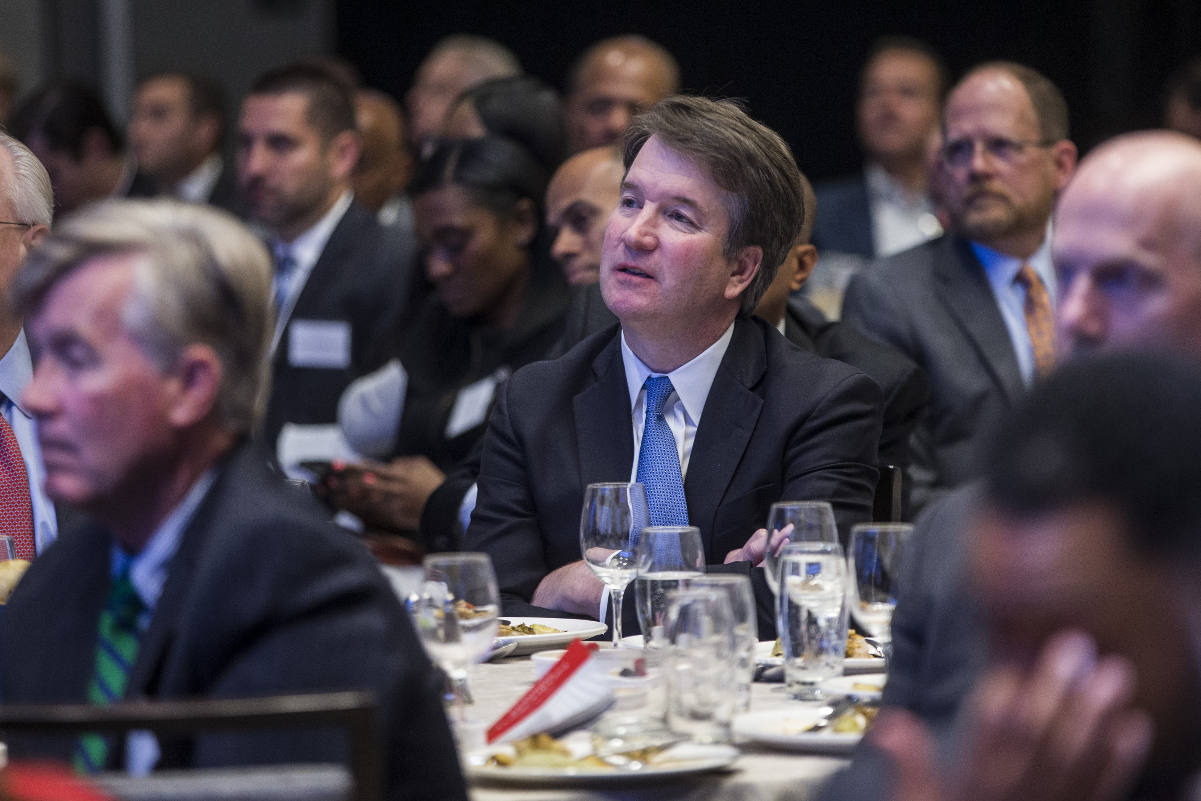 Justice Brett Kavanaugh at the Economic Club of Washington, D.C. on May 9, 2019. (Zach Gibson/Getty Images)