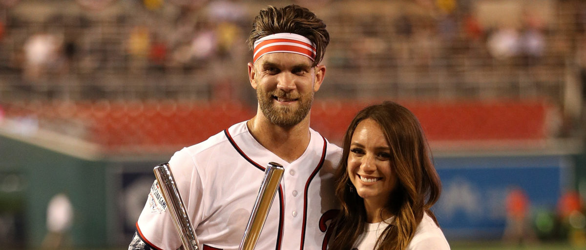 Bryce Harper's Wife Receives Hilarious DM From Woman