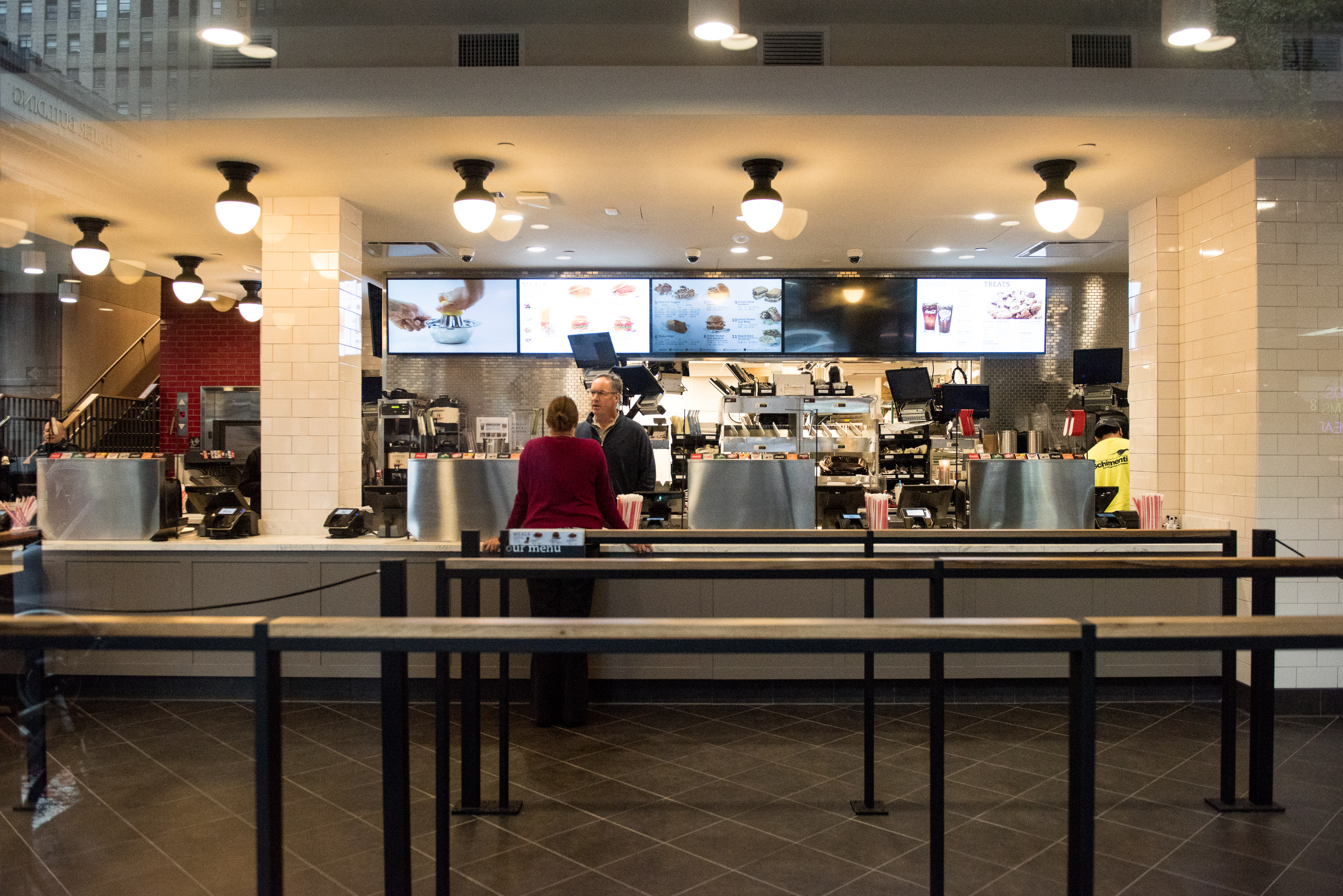 The interior of Chick-Fil-A, a day before its opening, on 37th Street and 6th Avenue (Andrew Renneisen/Getty Images)