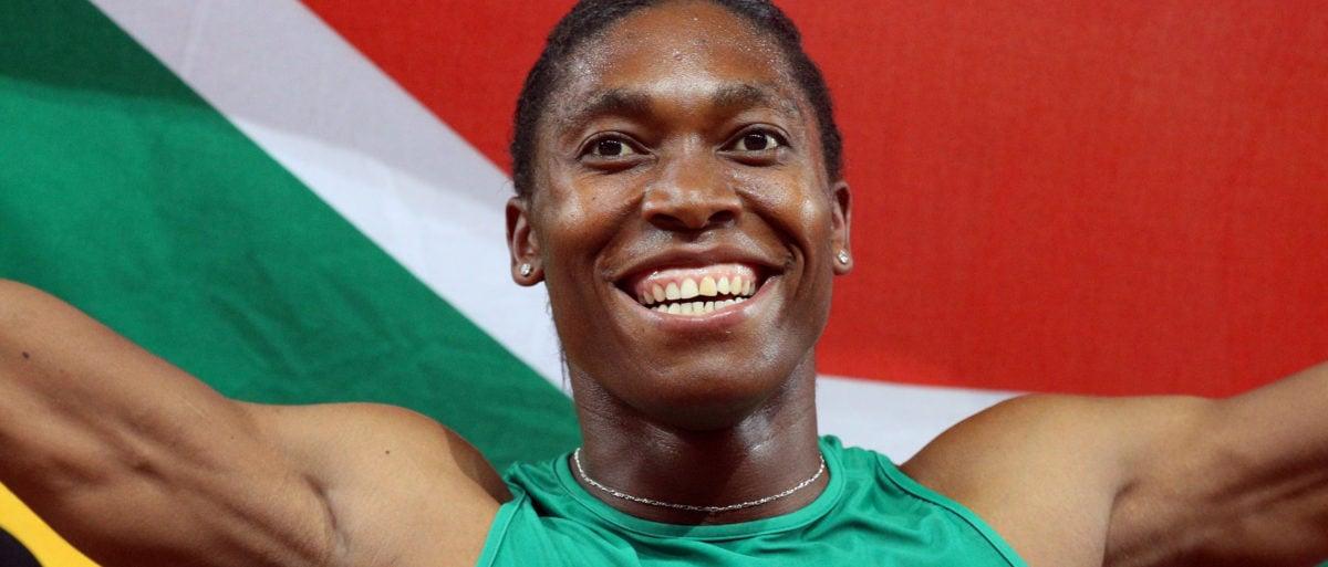 Athletics - Gold Coast 2018 Commonwealth Games - Women's 800m - Final - Carrara Stadium - Gold Coast, Australia - April 13, 2018. Caster Semenya of South Africa celebrates victory. REUTERS/Athit Perawongmetha