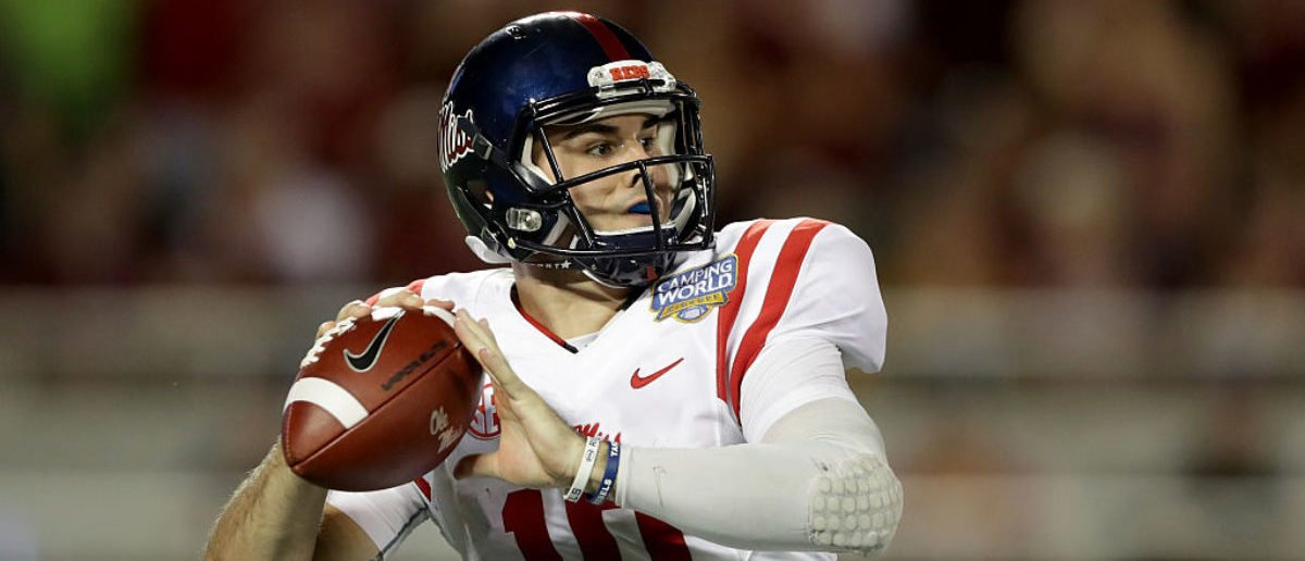 ORLANDO, FL - SEPTEMBER 05: Chad Kelly #10 of the Mississippi Rebels during the Camping World Kickoff at Camping World Stadium on September 5, 2016 in Orlando, Florida. (Photo by Streeter Lecka/Getty Images)