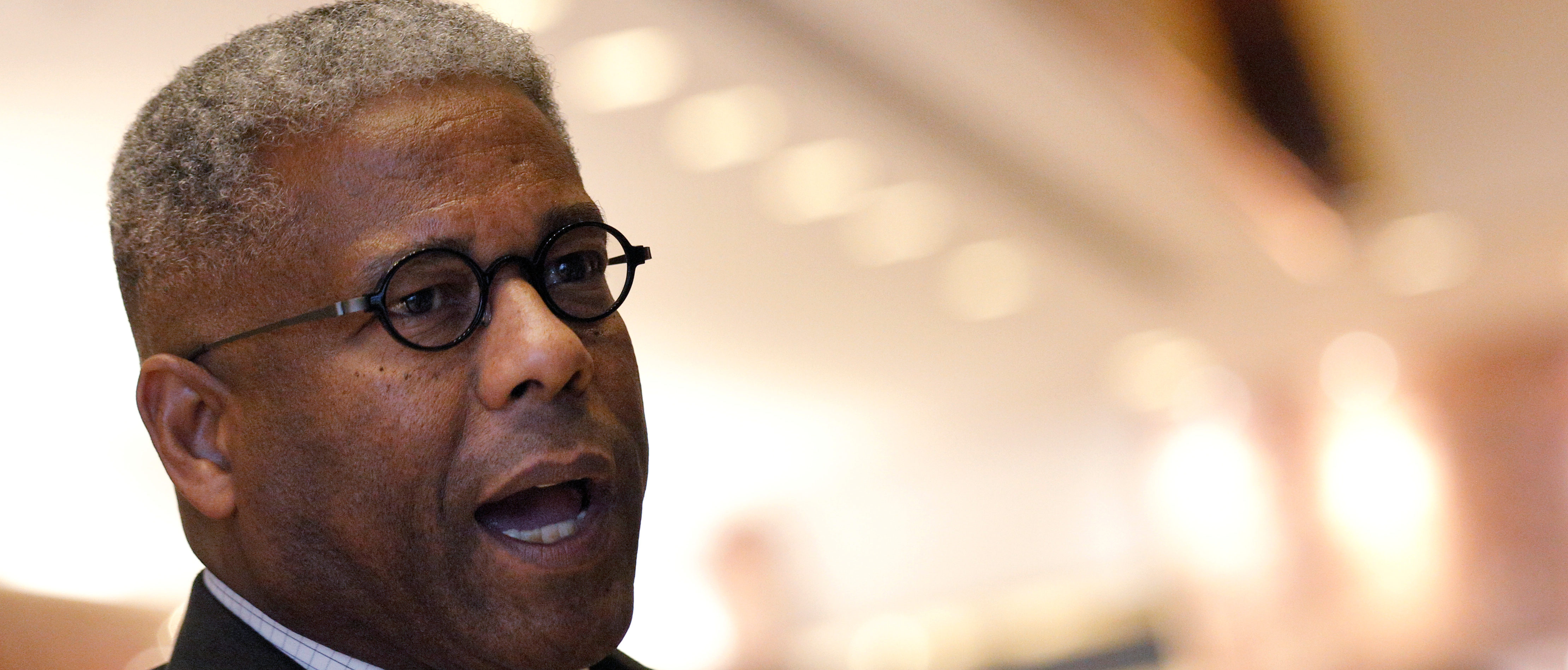 Former U.S. Congressman and retired U.S. Army Lieutenant Colonel Allen West speaks to the press after meeting with U.S. President-elect Donald Trump at Trump Tower in Manhattan, New York City, U.S. December 5, 2016. REUTERS/Brendan McDermid - RC12DC7B0D60