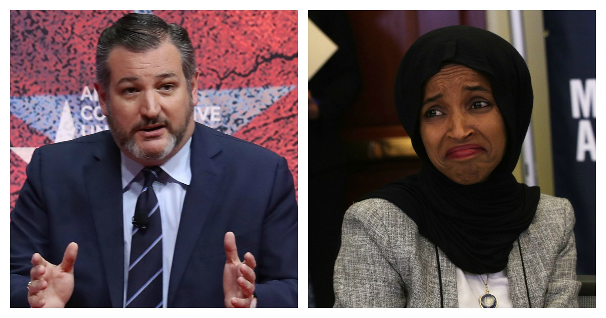 Ilhan Omar Suggests Latinos Would Not Be Competitive In 'Merit Based' Immigration System, Ted Cruz Fires Back