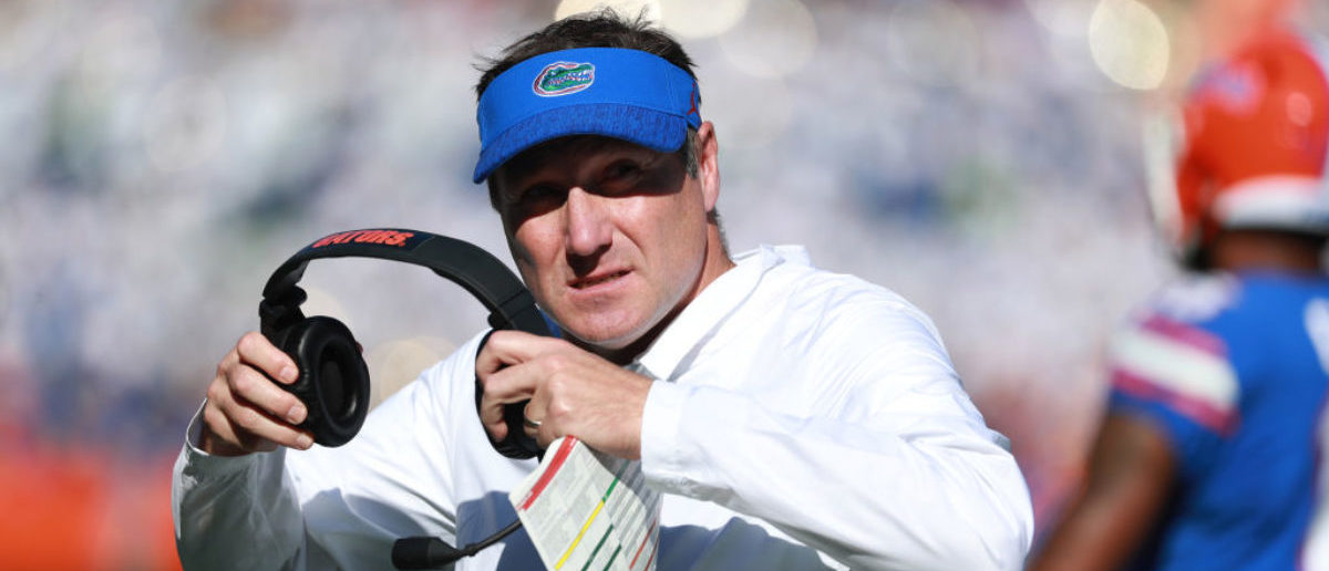GAINESVILLE, FLORIDA - NOVEMBER 17: Head coach Dan Mullen of the Florida Gators walks off the field during the second half of their game against the Idaho Vandals at Ben Hill Griffin Stadium on November 17, 2018 in Gainesville, Florida. (Photo by Scott Halleran/Getty Images)
