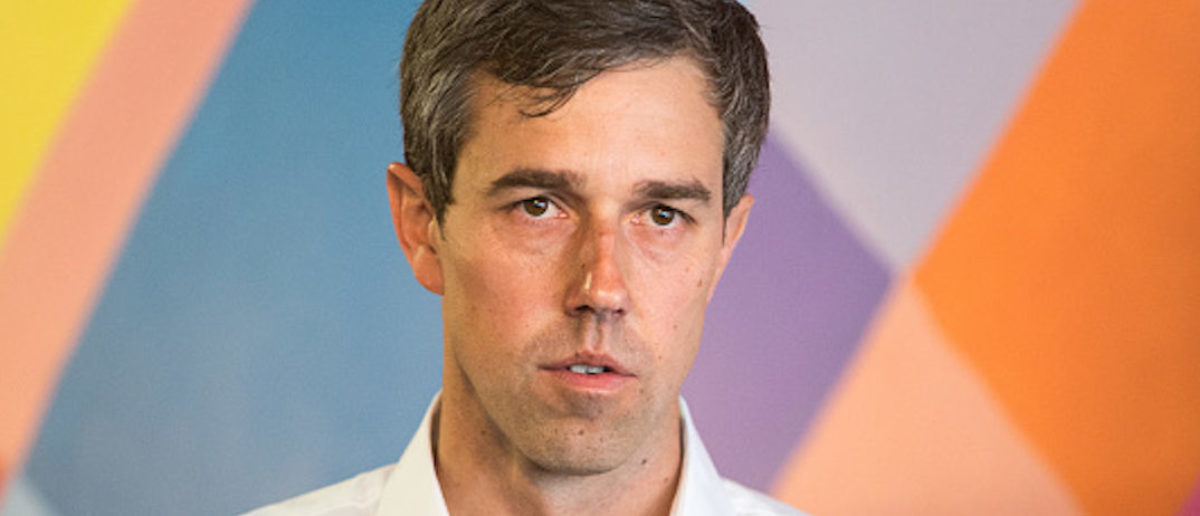 SOMERSWORTH, NH - APRIL 19: Democratic Presidential Beto O'Rourke speaks during a campaign stop at a cafe on April 19, 2019 in Somersworth, New Hampshire. The 2020 Democratic Presidential hopeful met supporters and answered various questions. (Photo by Scott Eisen/Getty Images)